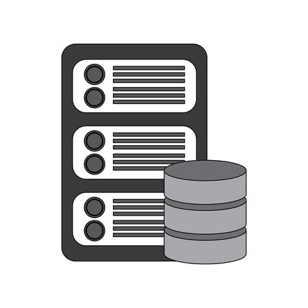 ネットワークアイコンベクトル図をホストするデータベースセンターサーバー