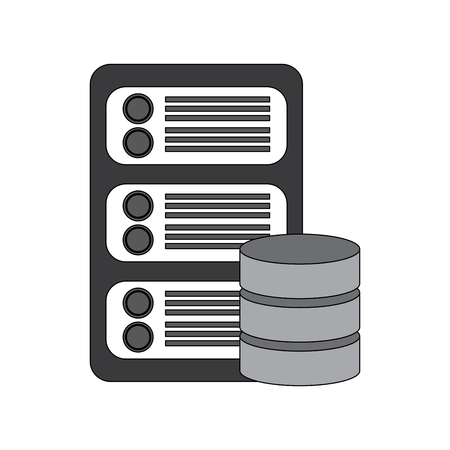 data base center server hosting network icon vector illustration Illustration