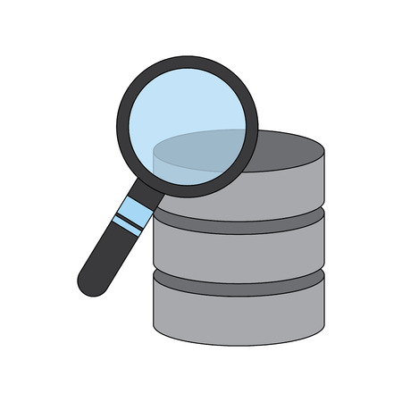 data center process search analysis equipment vector illustration