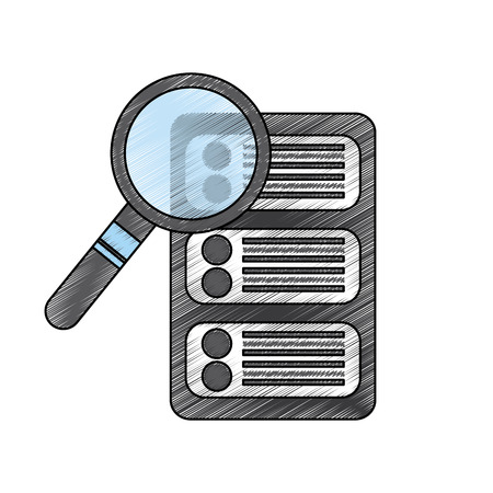 server search web hosting icon image vector illustration design  Illustration