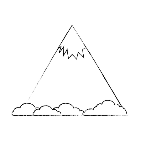 mountain with snow icon vector illustration design