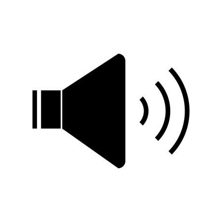speaker sound on icon image vector illustration design  black and white