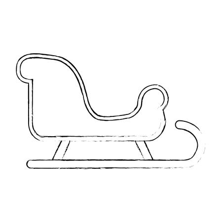 雪そり分離アイコンベクトルイラストデザイン