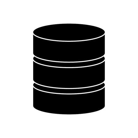 database data center icon image vector illustration design  black and white Illustration