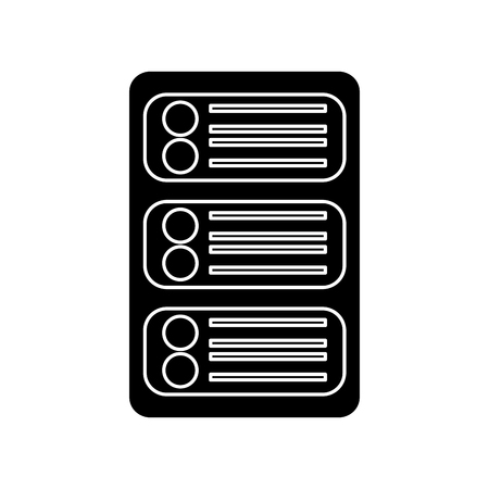 server web hosting icon image vector illustration design  black and white Illustration