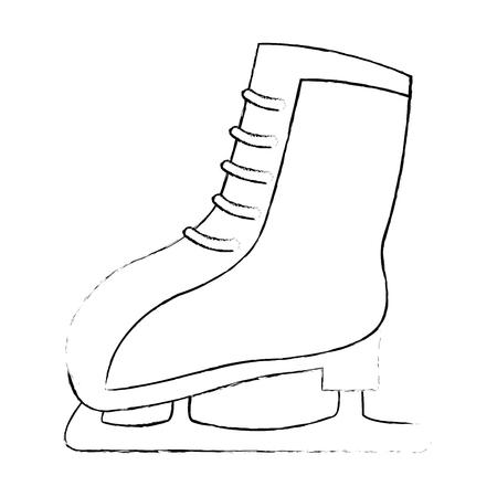 Sneeuwschaatsen geïsoleerd pictogram vector illustratie ontwerp