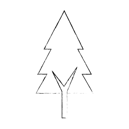 pine tree isolated icon vector illustration design Stock Vector - 90324261