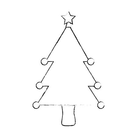christmas tree isolated iicon vector illustration design