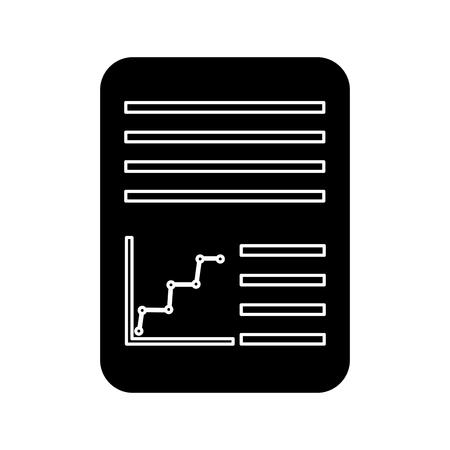 papier document pictogram afbeelding vector illustratie ontwerp zwart en wit Stock Illustratie