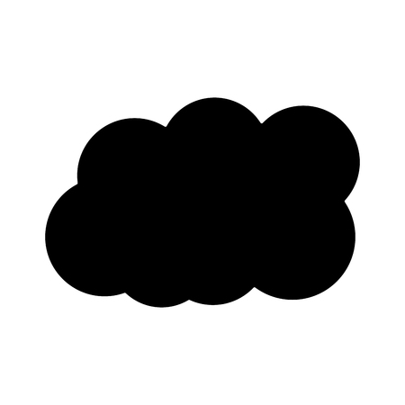cloud weather icon image vector illustration design  black and white Ilustração