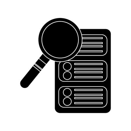server search web hosting icon image vector illustration design  black and white