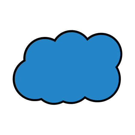 cloud weather icon image vector illustration design