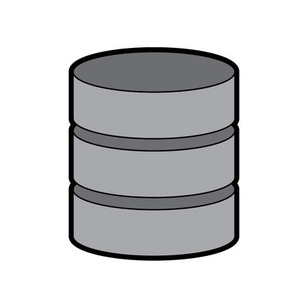 Database data center pictogram afbeelding vector illustratie ontwerp Stockfoto - 90327201