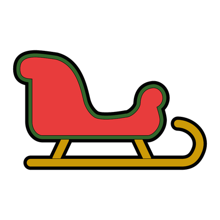 snow sledge isolated icon vector illustration design