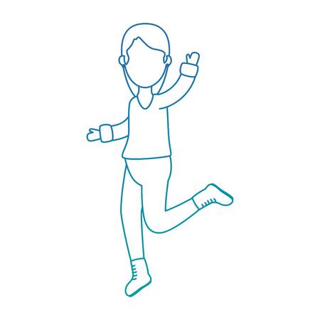 vrouw die met vector de illustratieontwerp van de winterkleren schaatsen