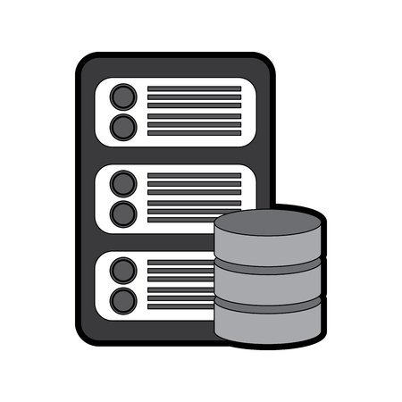 server with database web hosting icon image vector illustration design Stock Vector - 90327368