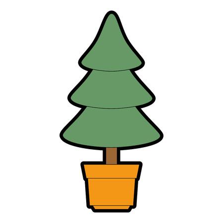 pine tree isolated icon vector illustration design Stock Vector - 90327409