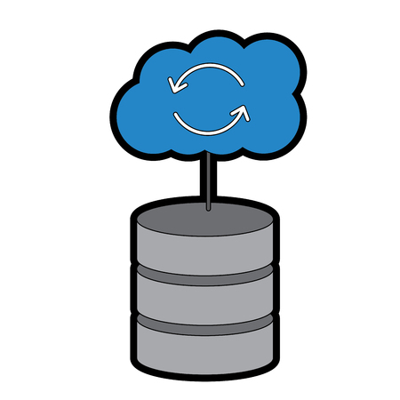 Serveur hébergement avec le code de l & # 39 ; ordinateur internet de code de code de données de réseau signe illustration vectorielle Banque d'images - 90327455
