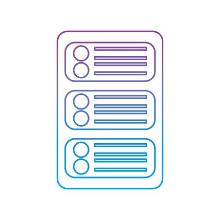 데이터 센터 개발 네트워크 기술 벡터 일러스트 레이션
