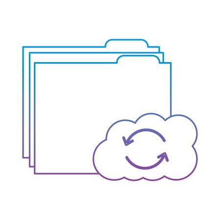 cloud folder storage sharing system file vector illustration Stok Fotoğraf - 90329026
