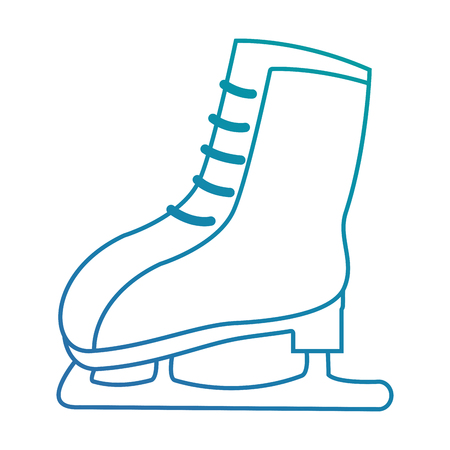 snow skates isolated icon vector illustration design
