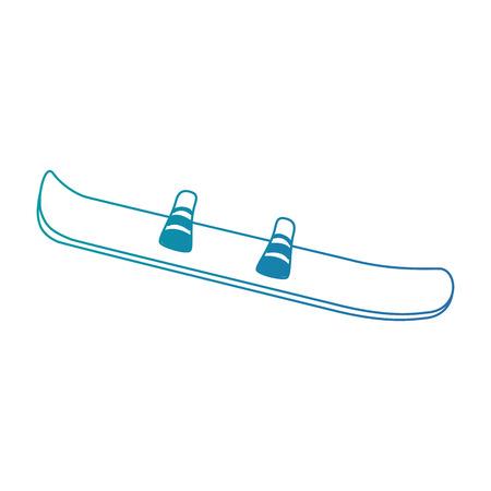 Ski sport geïsoleerd pictogram vector illustratie ontwerp