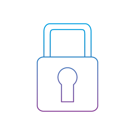 security padlock lock access protection icon vector illustration