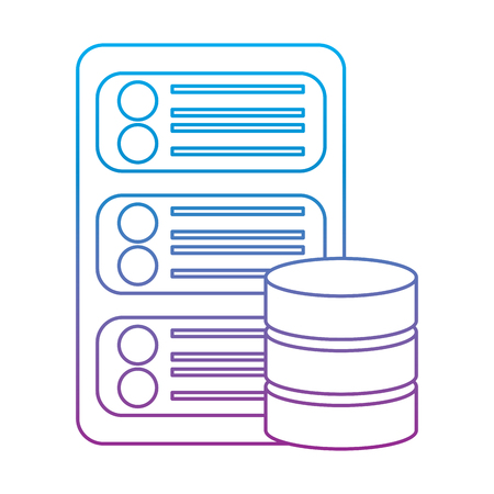 Database center server hosting netwerk pictogram vector illustratie Stockfoto - 90328720