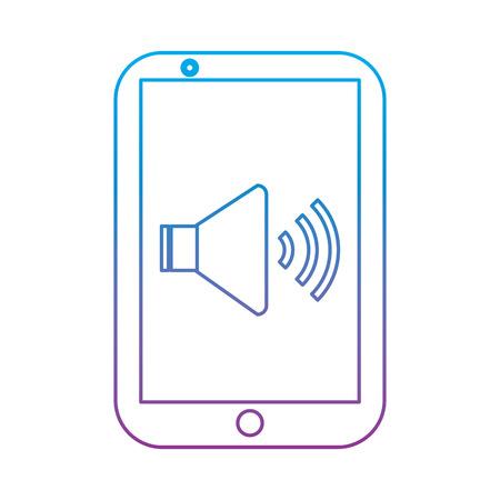 mobile sound audio volume device technology vector illustration