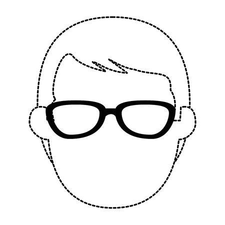 젊은이 머리 아바타 캐릭터 벡터 일러스트 디자인 스톡 콘텐츠 - 90328833