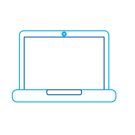 laptop computer device technology digital screen vector illustration