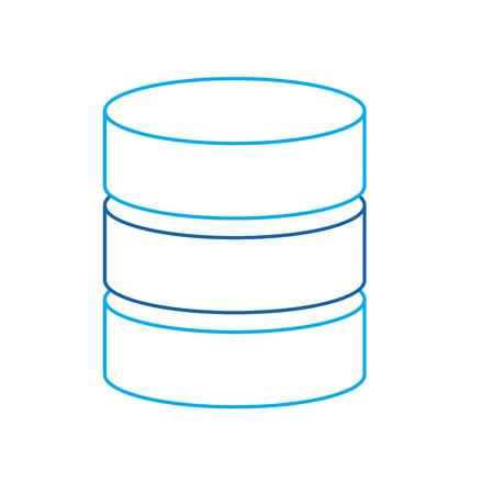 data server center system backup service vector illustration