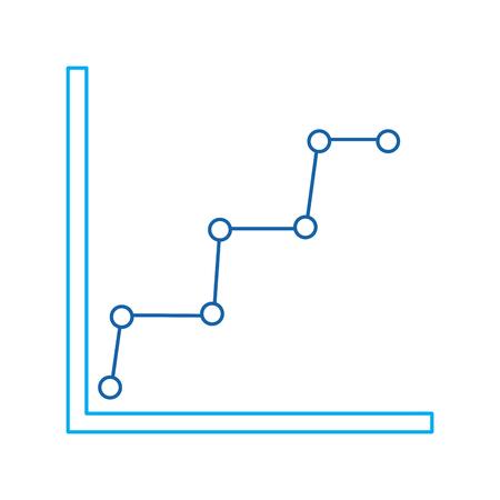 ビジネスグラフ図と統計点線記号ベクトル図