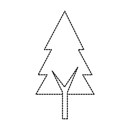 pine tree isolated icon vector illustration design Stock Vector - 90329530