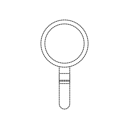 虫眼鏡アイコン画像ベクトル イラスト デザインの黒い点線