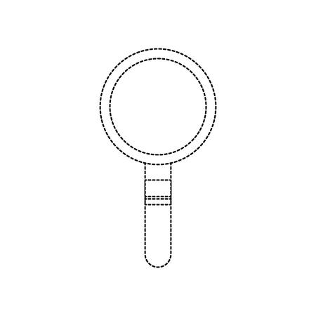magnifying glass icon image vector illustration design  black dotted line Illusztráció