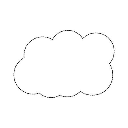 cloud weather icon image vector illustration design  black dotted line