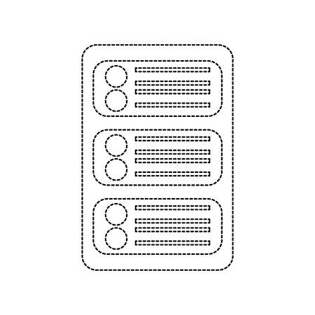 server web hosting icon image vector illustration design  black dotted line Illustration