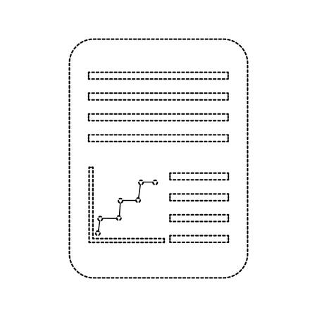 紙文書アイコン画像ベクトルイラストデザイン 黒点線