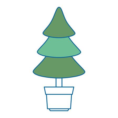 pine tree isolated icon vector illustration design Stock Vector - 90330591
