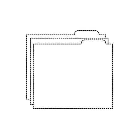 file folder icon image vector illustration design  black dotted line Illusztráció