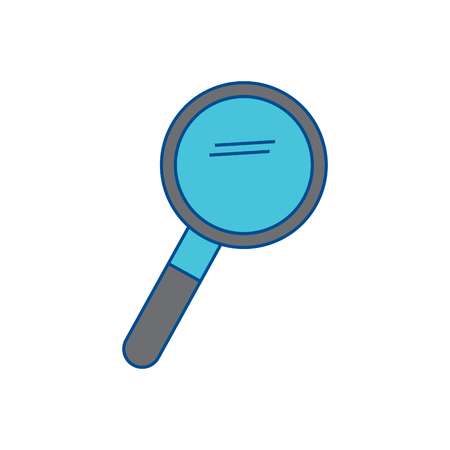 magnifying glass icon image vector illustration design  grey and blue