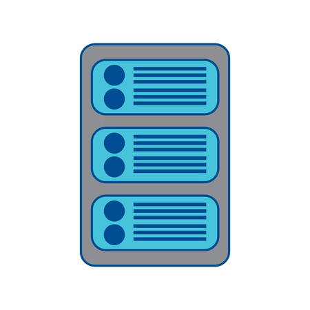 server web hosting icon image vector illustration design  grey and blue
