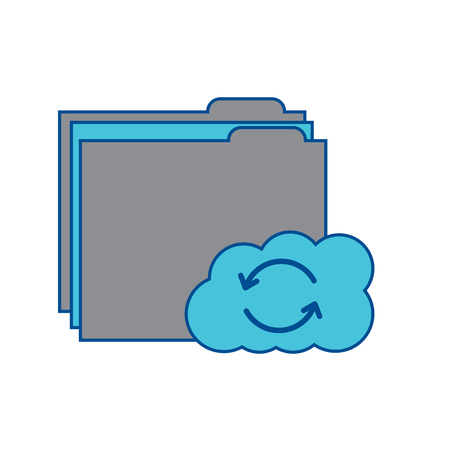 file folder with cloud storage icon image vector illustration design  grey and blue Stock fotó - 90339318