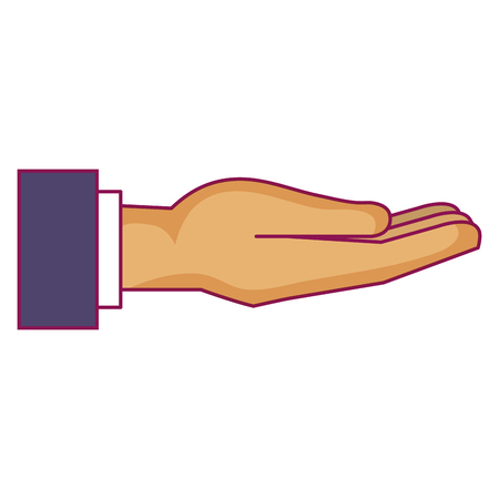 hand human receiving icon vector illustration design Ilustrace