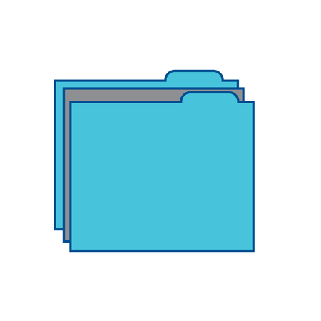 file folder icon image vector illustration design  grey and blue Illusztráció