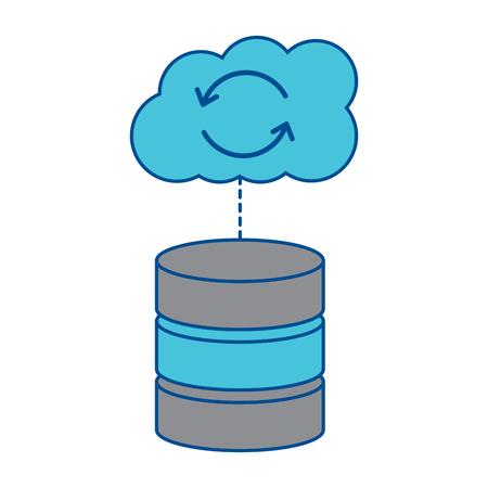 Serveur hébergement avec le code de l & # 39 ; ordinateur internet de code de code de données de réseau signe illustration vectorielle Banque d'images - 90340476