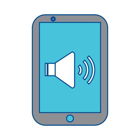 Téléphone mobile de la technologie audio vecteur de périphérique illustration Banque d'images - 90342814