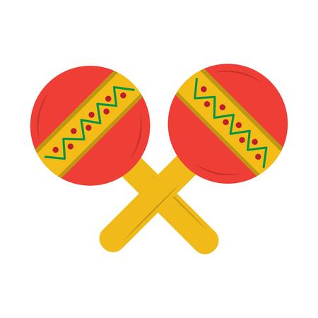 マラカス メキシコ音楽の楽器の祭典カーニバル ベクトル図