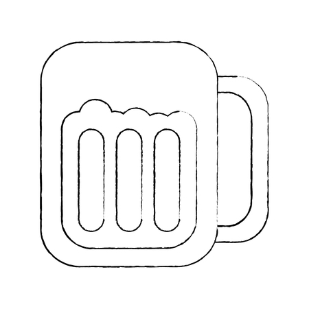 glass beer drink liquor beverage icon vector illustration